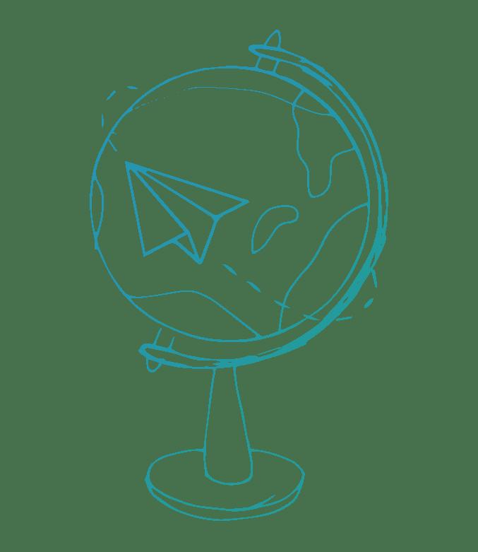 globus ilustrace NEWTON Media International