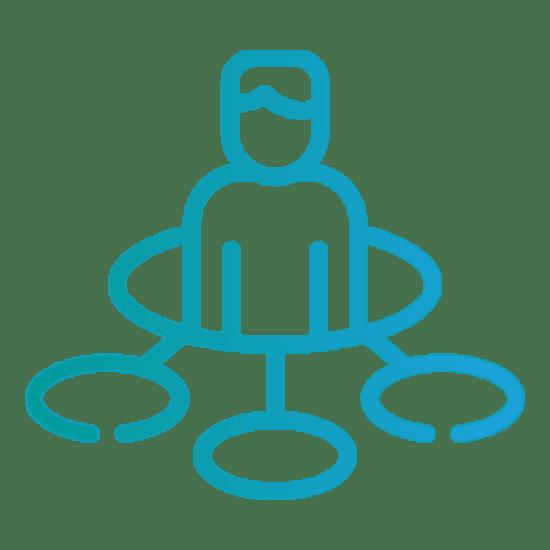 ikona technologie a konektivita