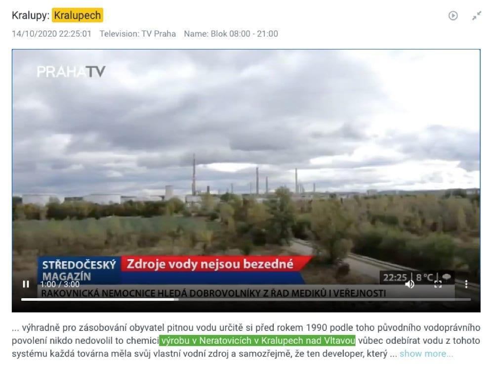 TVR Alerts Kralupy nad Vltavou mockup